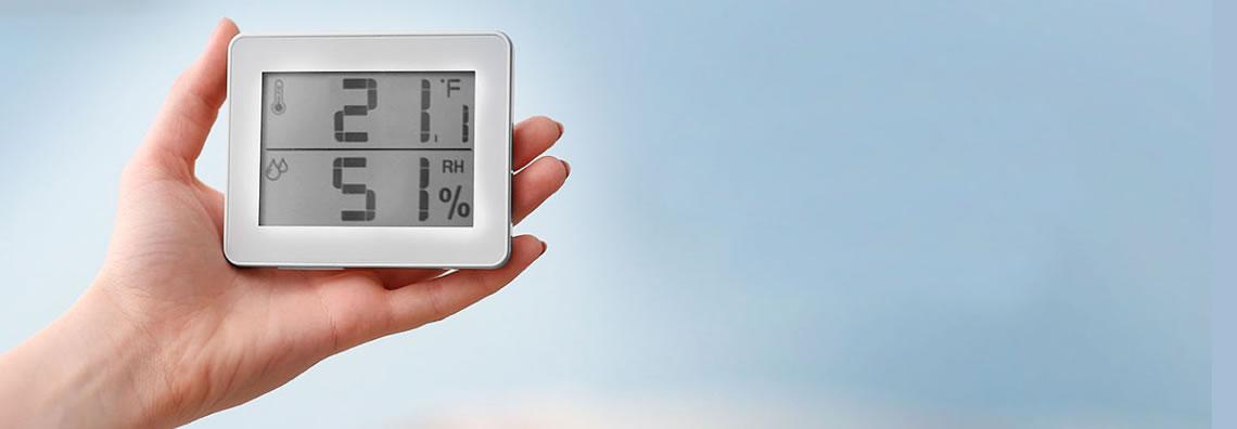 Es imposible evaluar y medir los niveles de humedad relativa del aire